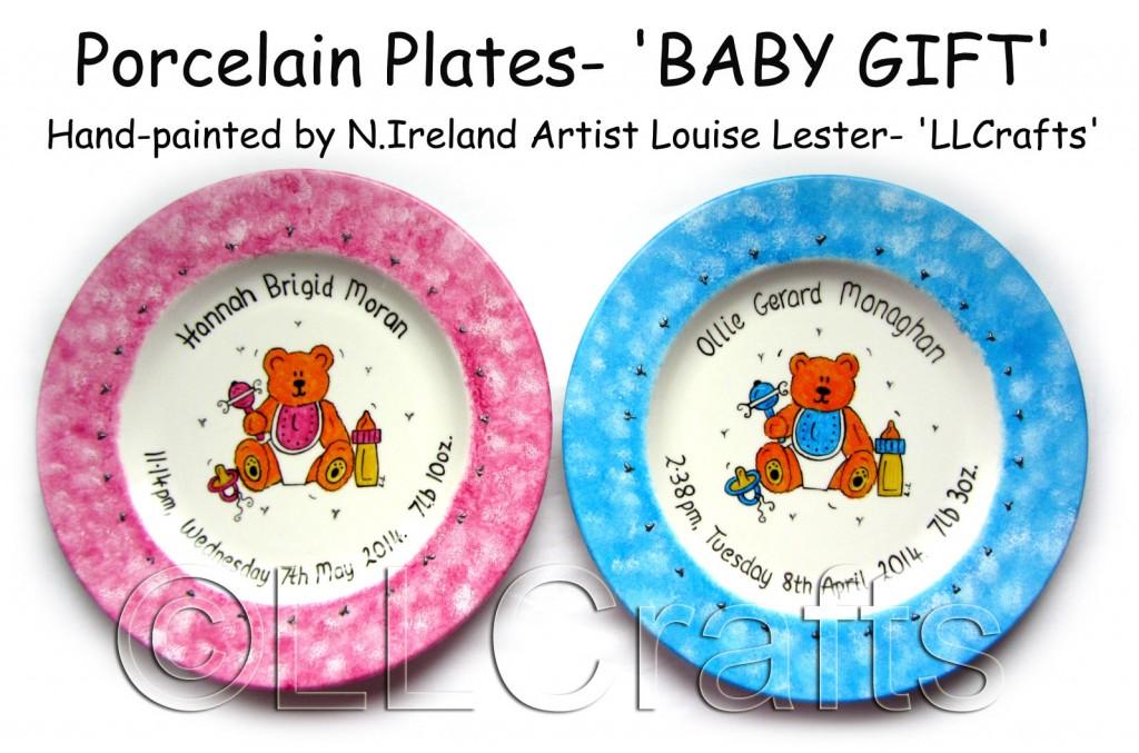 baby gifts porcelain plates llcrafts ni uk ll crafts